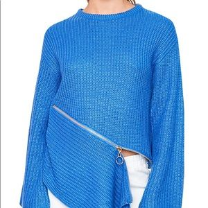 Hayden Sweaters - Asymmetrical Zip Sweater